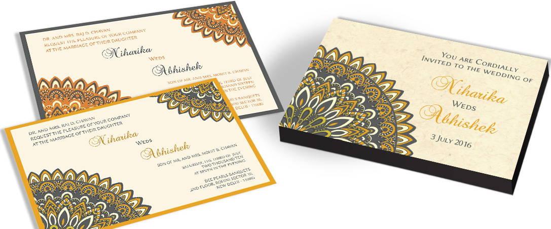 Traditional Wedding Invitation Chococraft