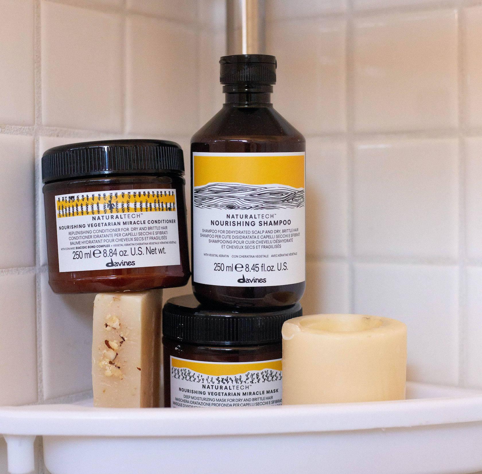 Naturaltech Nourishing Davines shower haircare