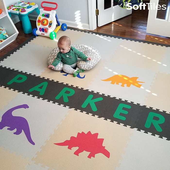 SoftTiles Personalized Baby Foam Play Mat