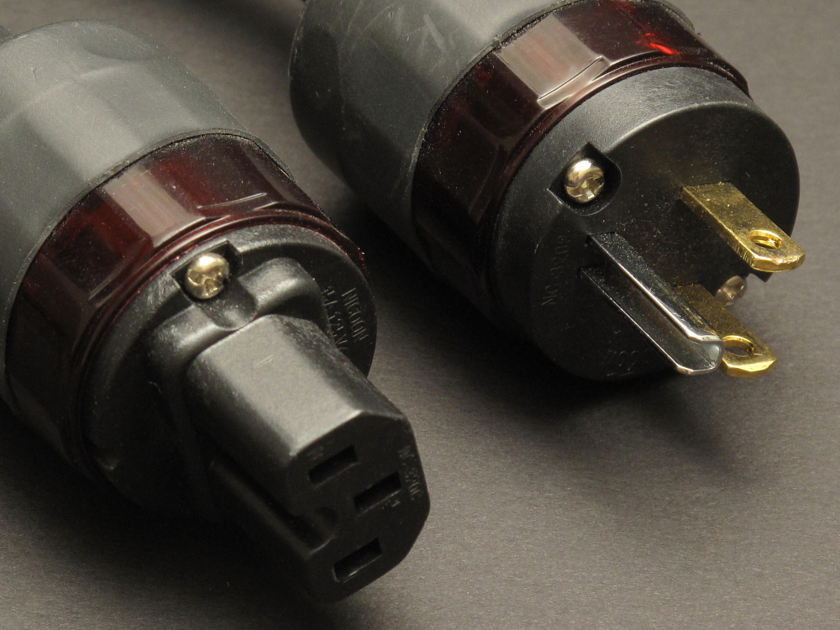 Michael Wolff Audio  5 ft. Carbon Ribbon Source Power Cable Oyaide Plugs Super rare and desired, last version made.