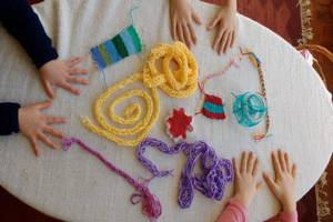 Finger Knitting and Craft Lessons for Children in London