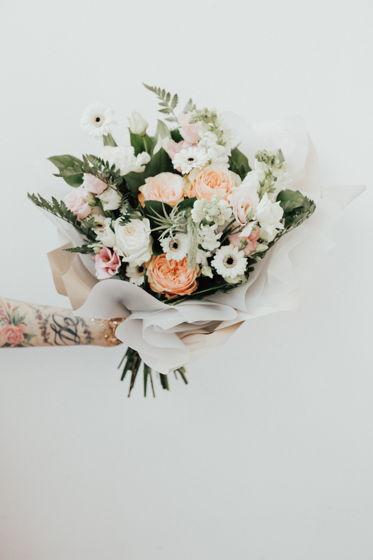 Сборный букет из живых цветов
