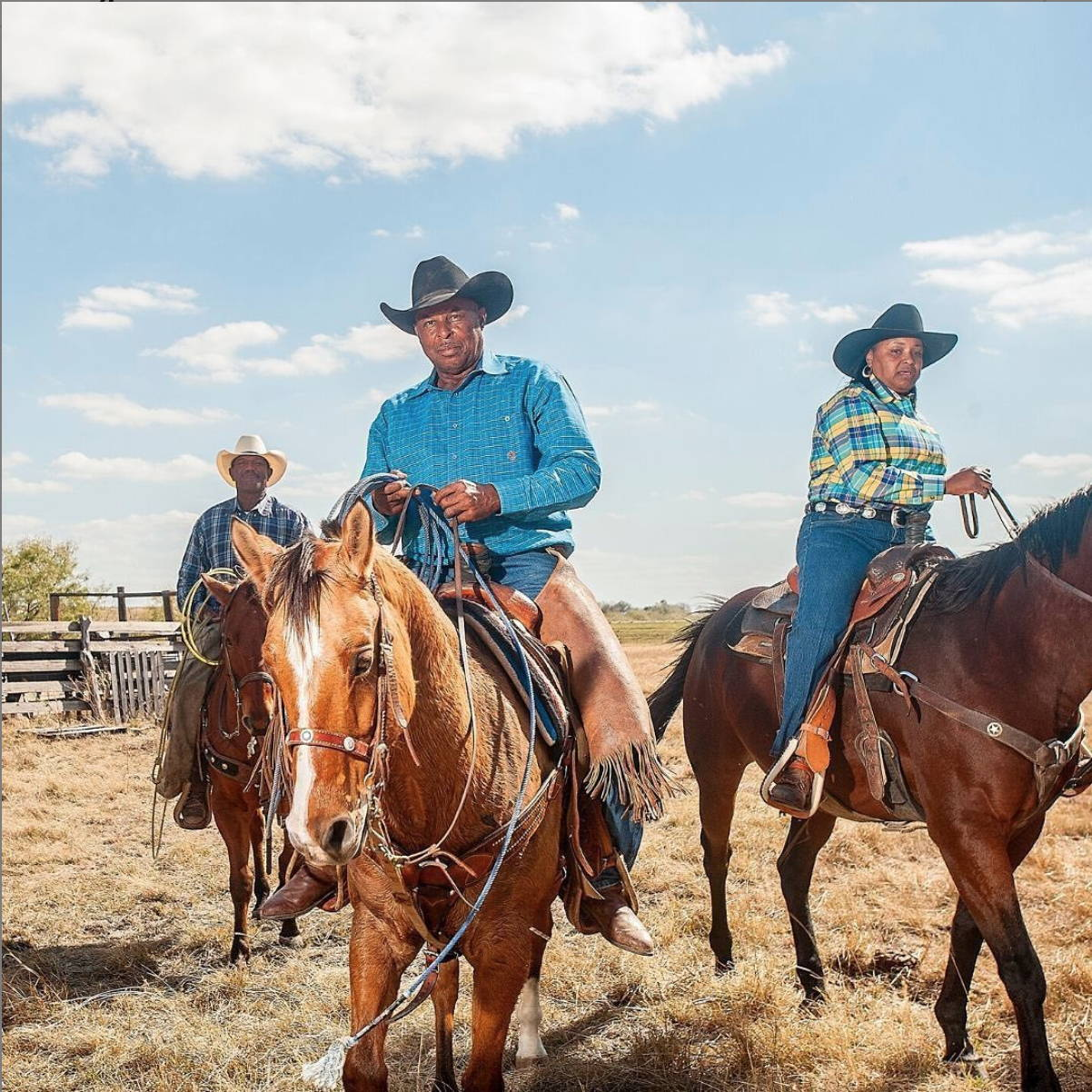 Black cowboys riding horseback from The Forgotten Cowboys project