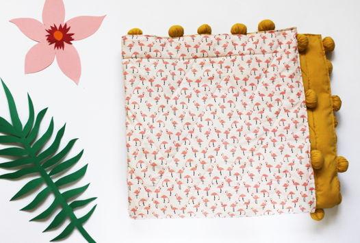 Детское одеяло с  принтом из фламинго