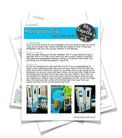 photography tips for student projects