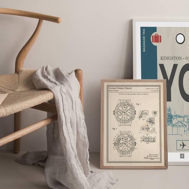 Poster voyage cadeau personnalisé