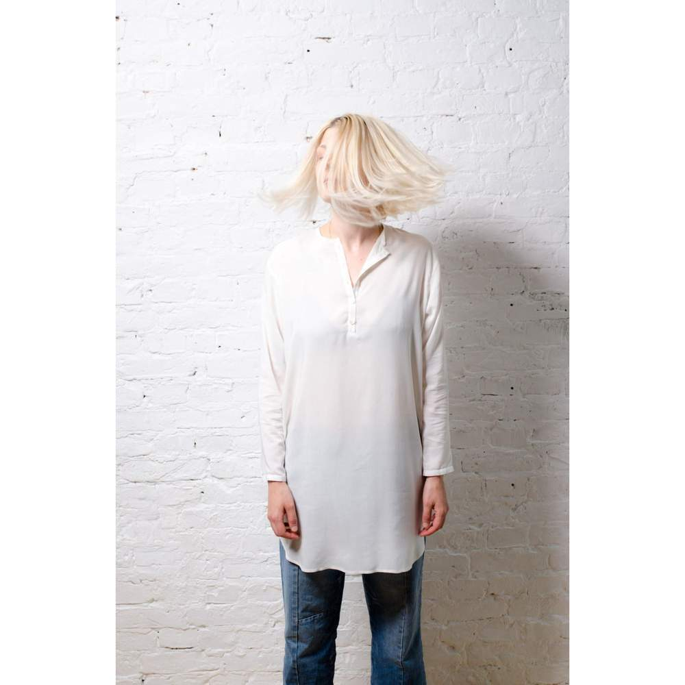 white silk blouse by Northern Archive