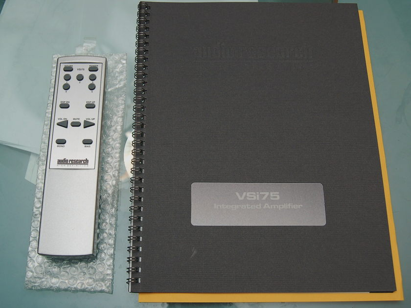 Audio Research VSI-75 Integrated Amplifier Almost Mint Condition -SILVER
