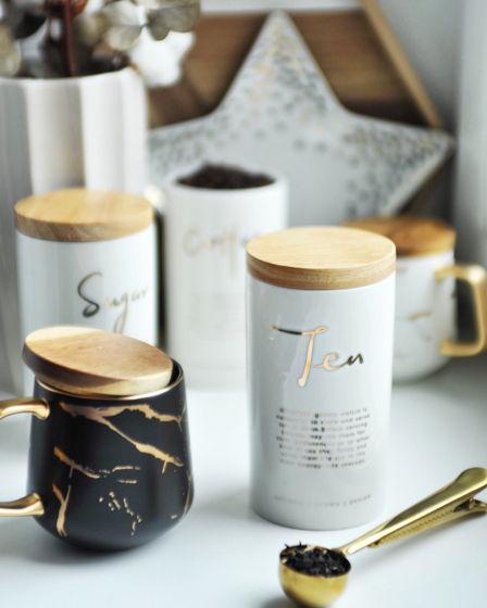 Керамическая баночка под чай, кофе или сахар