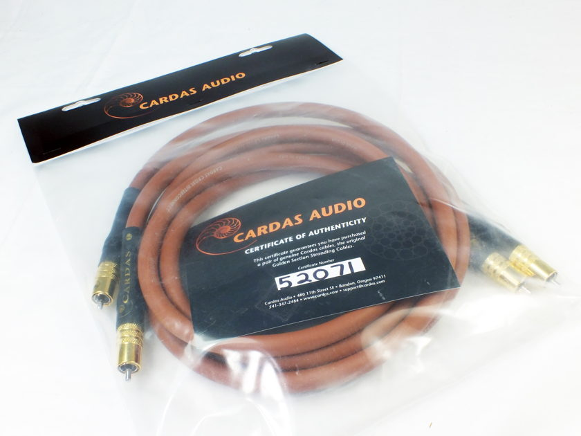 "CARDAS AUDIO Cross ""legacy""  Interconnect Cable; Certificate of Authenticity: (1M Pair - RCA); New-in-Box/Bag; 50% Off Retail"