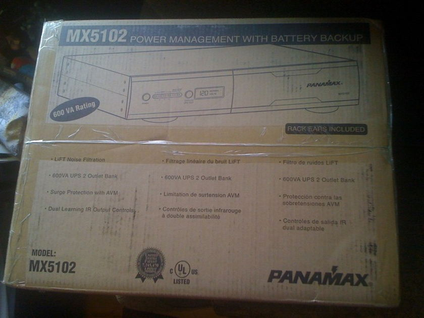 Panamax MX5102 New in Factory Sealed box, Power Management, Surge Protection,  and Battery backup for a total solution in one package