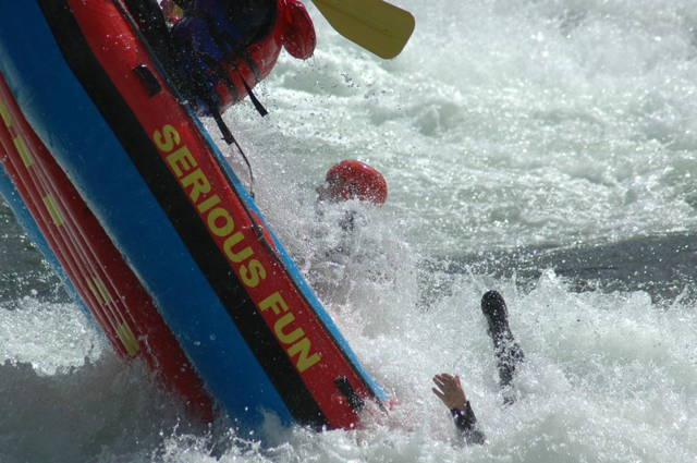 Extreme rafting