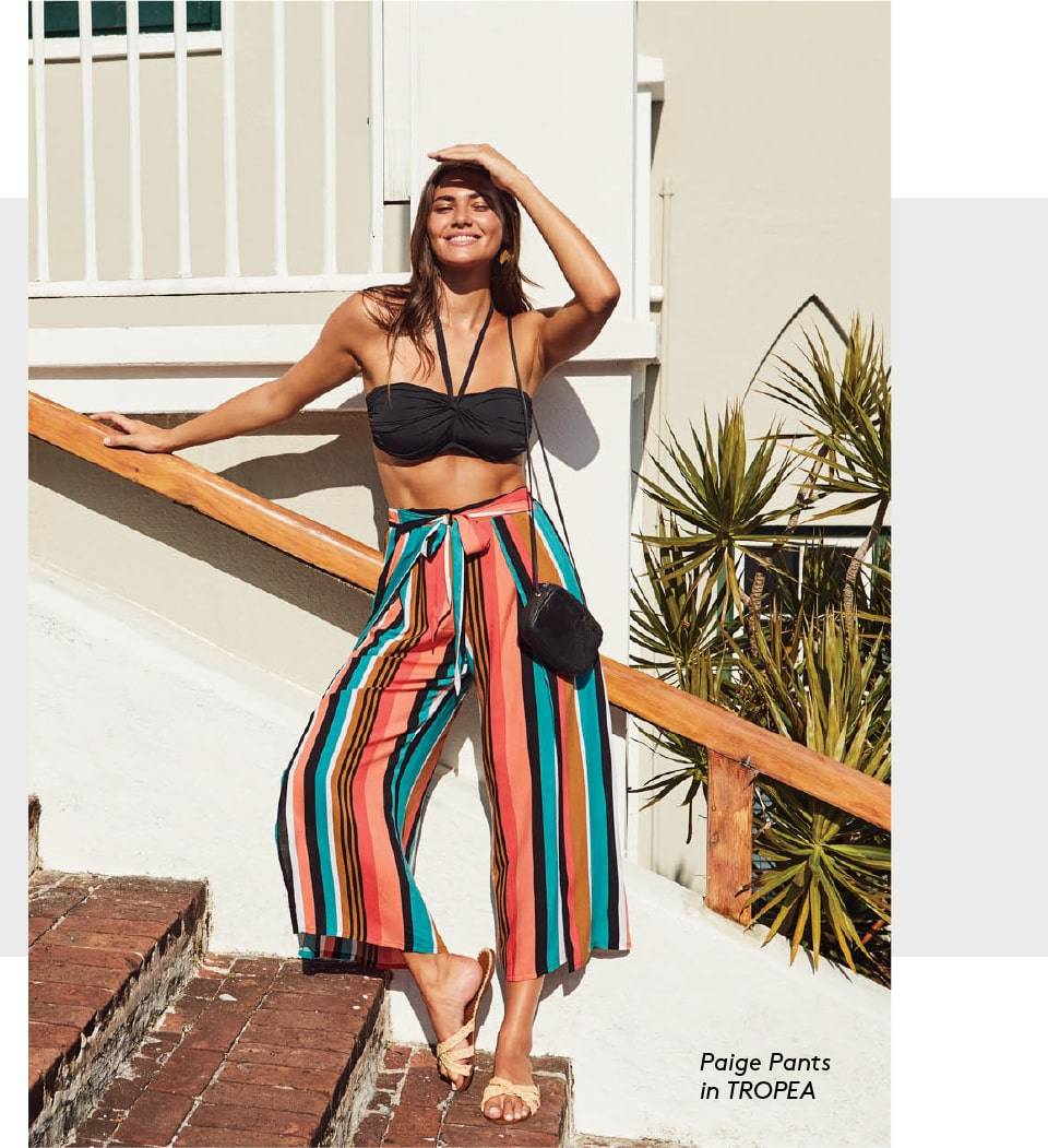 SKYE's Paige pants in the Tropea print.
