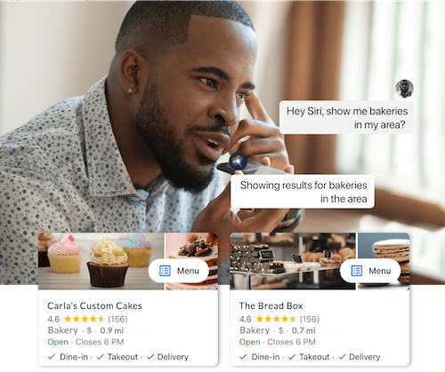 voice search business example