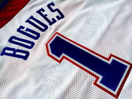 Signed Muggsy Bogues Washington Bullets Jersey & Photo