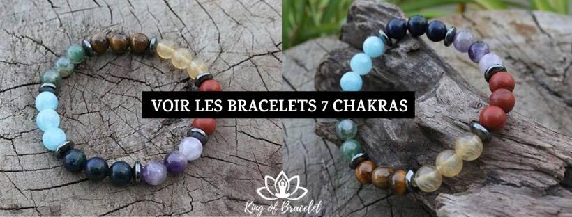 Bracelets 7 Chakras en Pierres Véritables - King of Bracelet