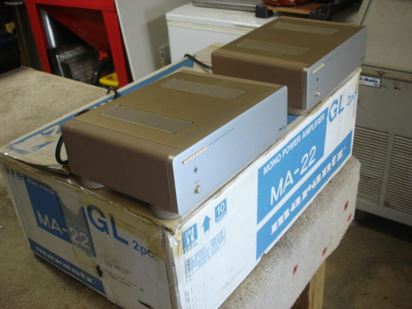 MARANTZ MA-22 MONO BLOCK CLASS A AMPLIFIERS IN THE BOXES