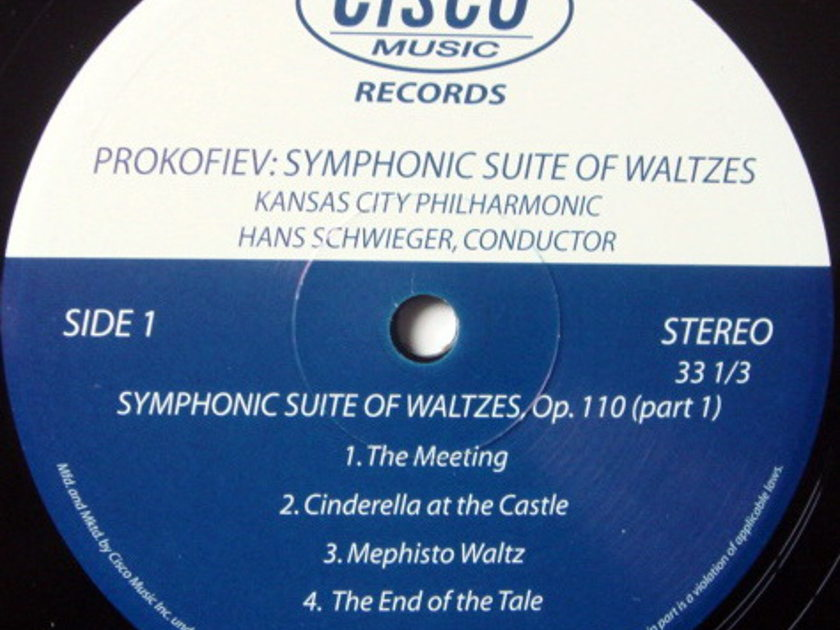 ★Audiophile 180g★ Cisco Records / SCHWIEGER, - Prokofiev Symphonic Suite of Waltzes, MINT(OOP)!