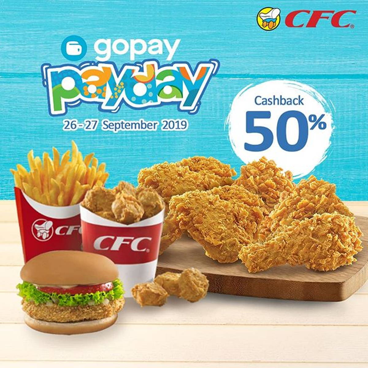 Katalog Promo: CFC: Promo GOPAY PayDay Cashback 50% - 1