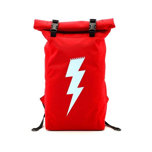 Red Reflective Backpack / Красный рюкзак / Cумка  со светоотражающим принтом
