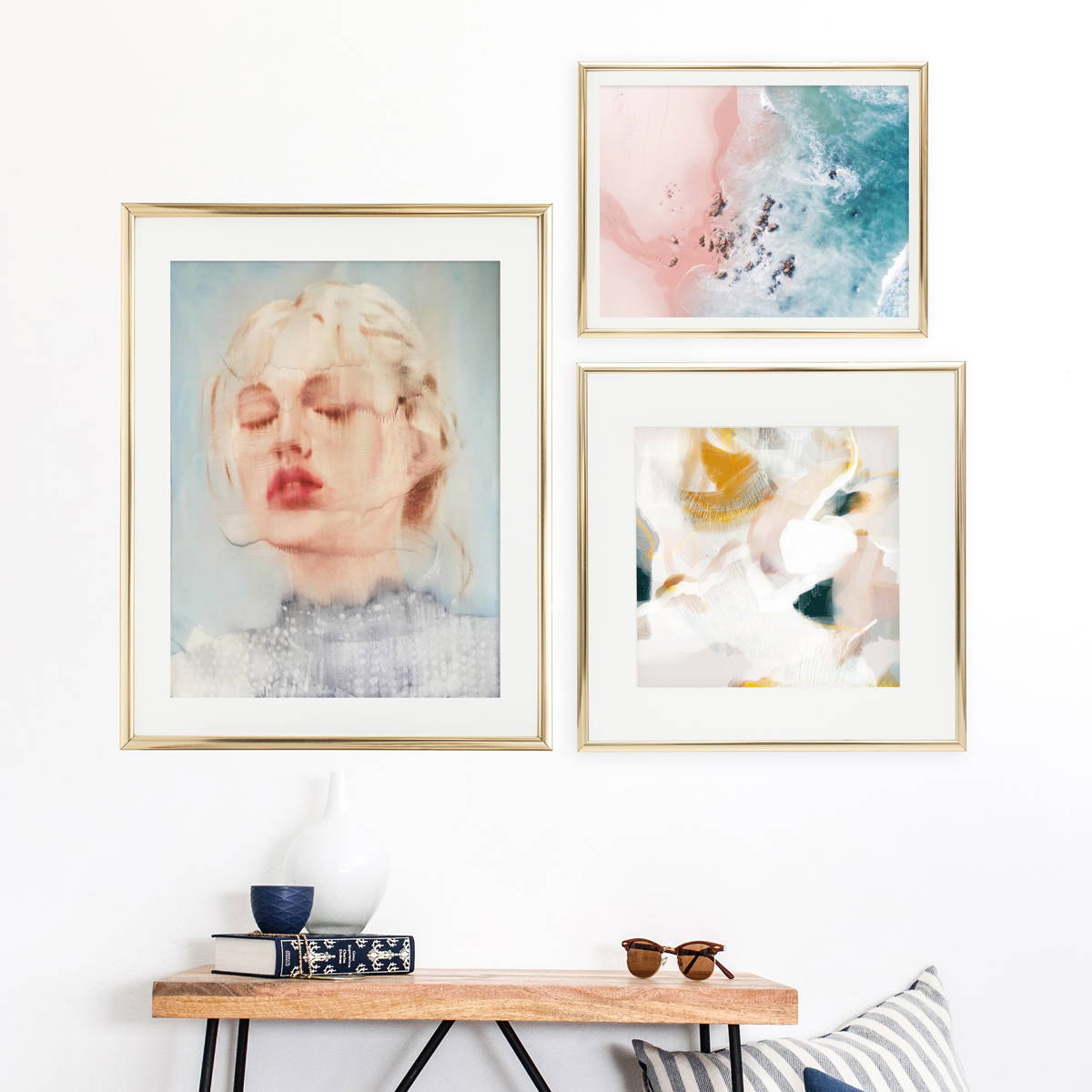 Done for you gallery wall ideas via Parima Studio