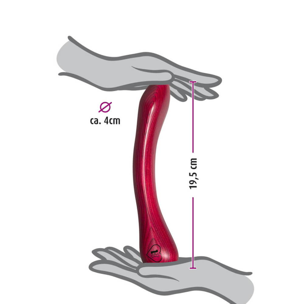 g-Punkt Holzdildo Model TWO - Vermassung