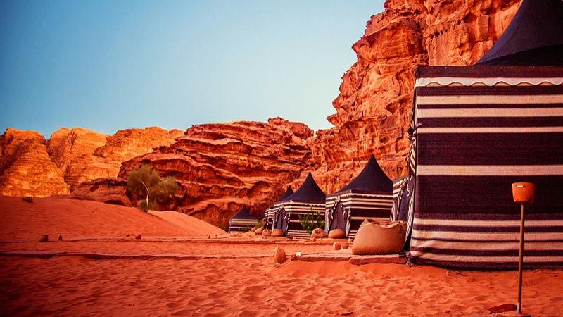 Wadi Rum camp, Jordan