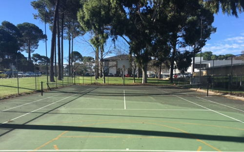 Tennis Court with Basketball Hoops - Super Shady Space - 0