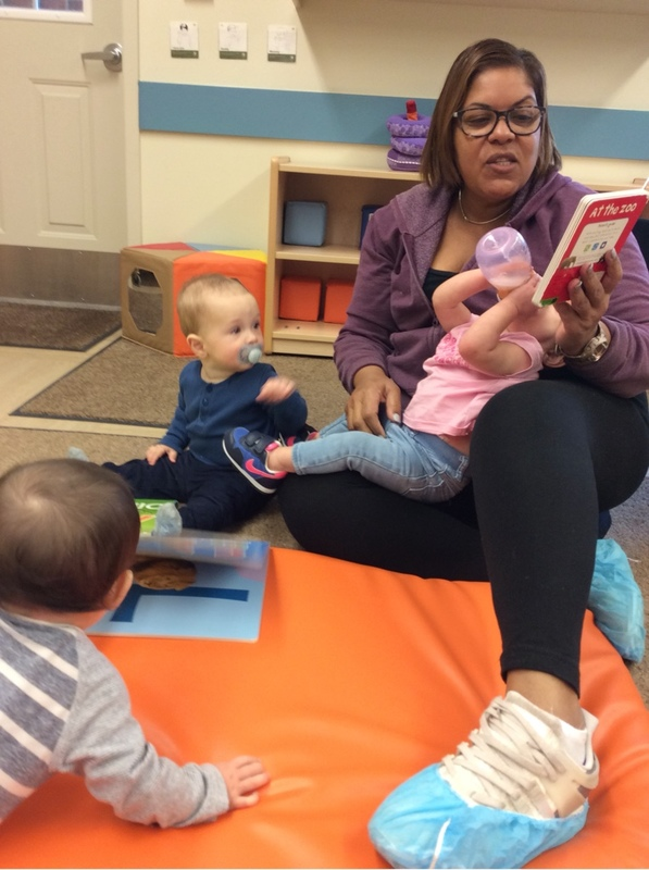Infants love to be read to, it is a vital element of their development.