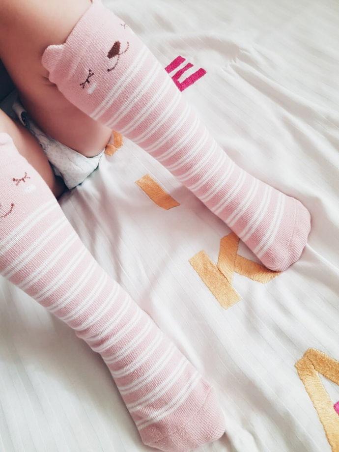 """Гольфы """"Котята"""" хлопковые, розовые"""
