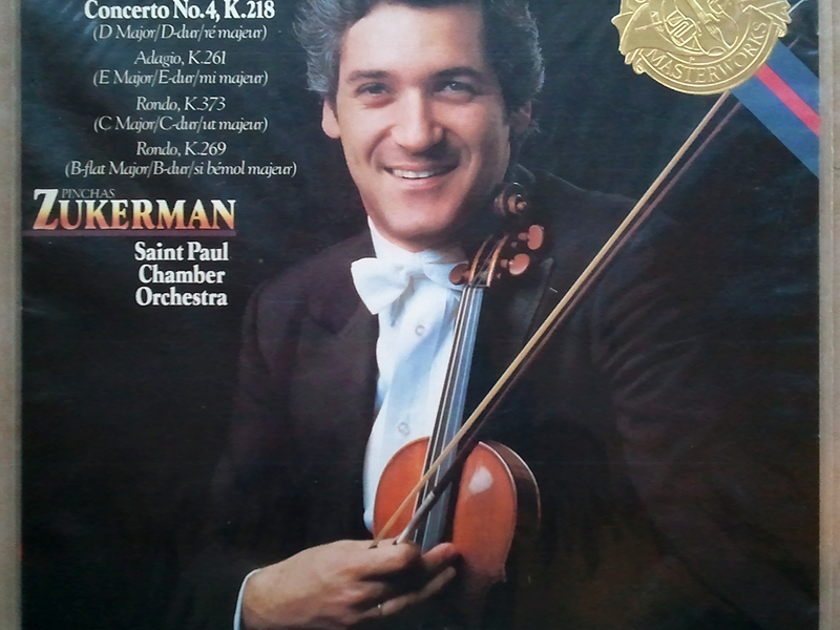 Sealed CBS   ZUKERMAN/MOZART - Violin Concerto No. 4 K. 218