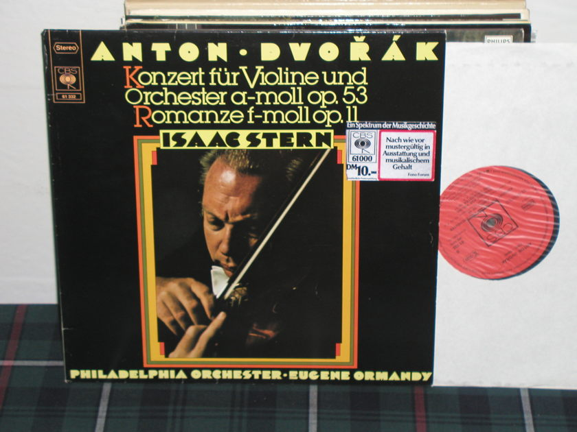 Stern/Ormandy/PO - Dvorak Cto. for Violin/Orchestra  Am/Romance in Fm  CBS 61 332.German Import w/Orange labels.