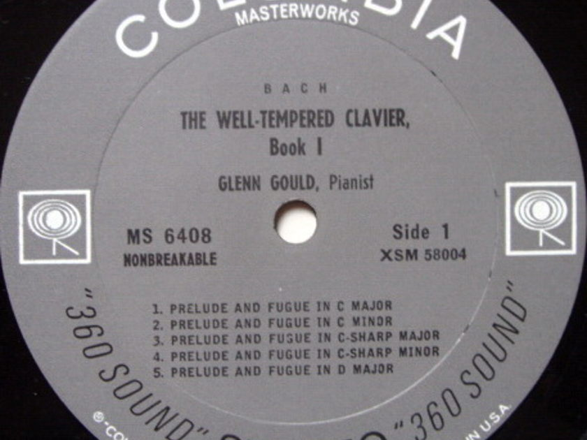 Columbia 2-EYE / GLENN GOULD, - Bach Well-Tempered Clavier Book 1, NM!