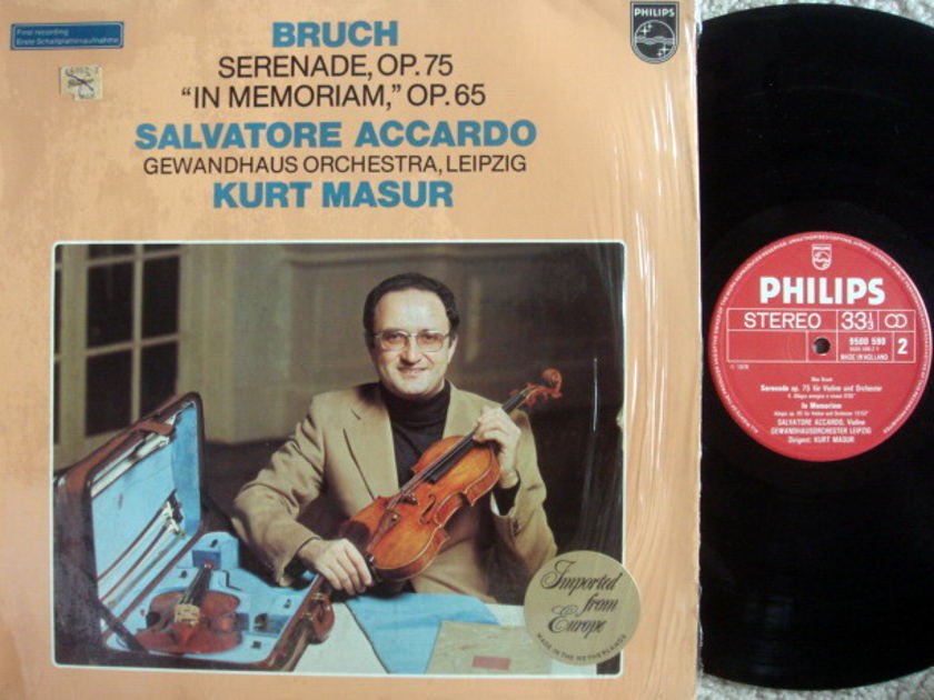 Philips / ACCARDO-MASUR, - Bruch Serenade, NM!
