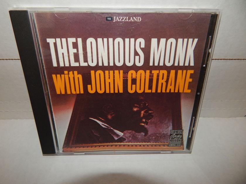 THELONIOUS MONK with JOHN COLTRANE - OJCD Jazzland 039-2 Coleman Hawkins Art Blakey Gigi Gryce 1992 Fantasy NM CD
