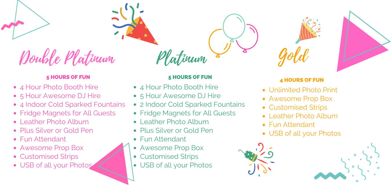 Photo Booth party hire packages