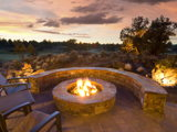 Extending the joys of summer with an outdoor fireplace