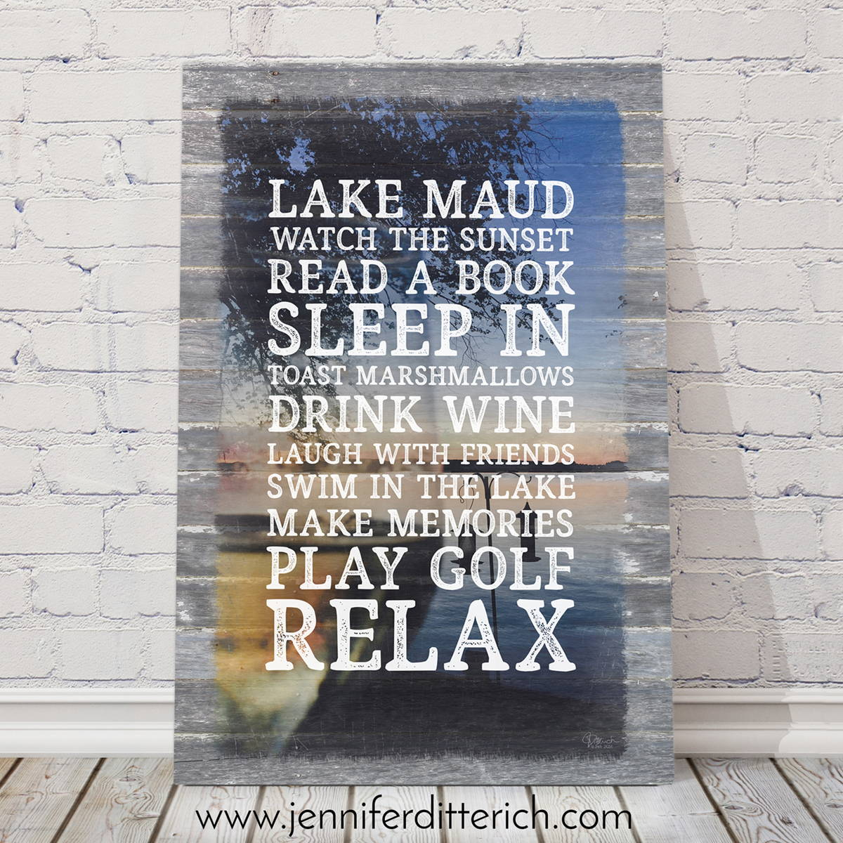 Personalized Lake Rules Sign