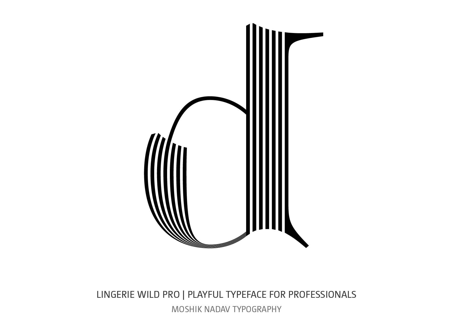 Lingerie Wild Pro Typeface lowercase d designed for fashion logos and luxury bbrands