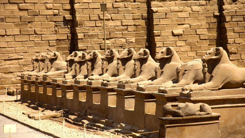 Avenue of Sphinxes, Karnak Temple, Luxor, Egypt
