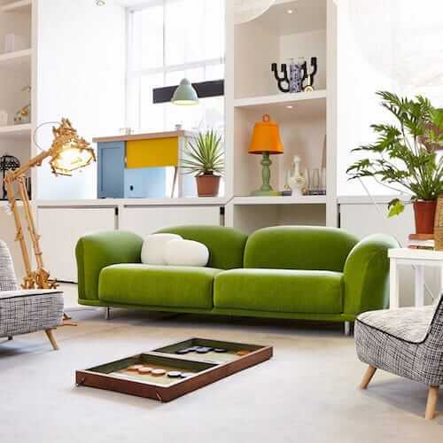 Moooi Cloud Sofa, featured in twill grass