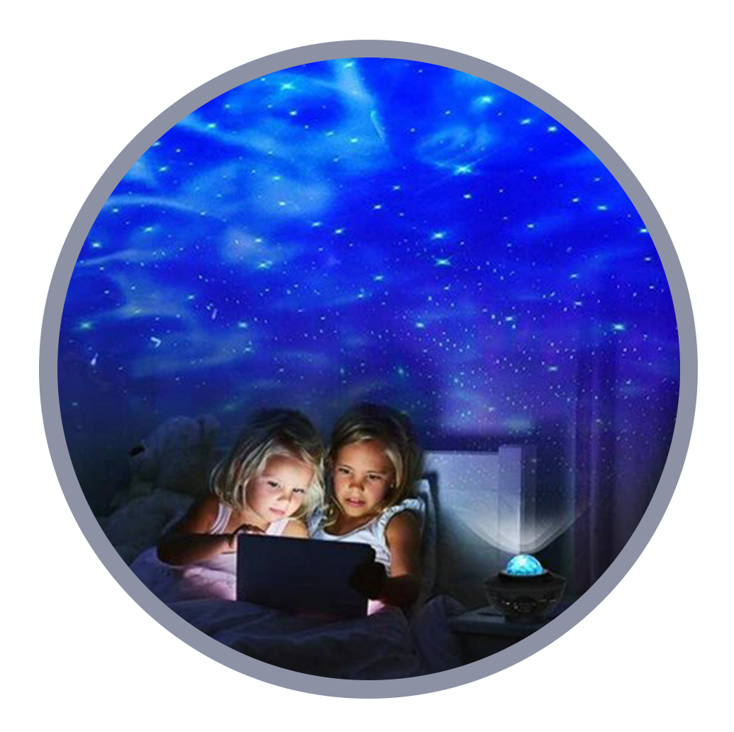 Galaxy Night Light Projector for relieving stress and anxiety for you and your family
