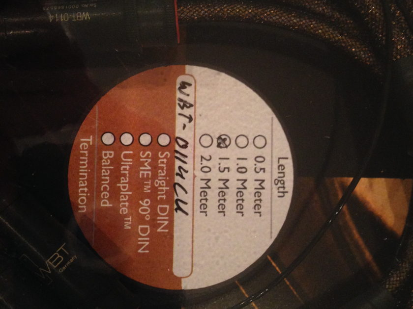 Kimber Kable TAK-CU Phono Cable, 1.5 meter WBT 0114 RCA to RCA, NIB