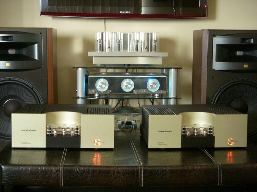 CONRAD JOHNSON LP140M VACUUM TUBE MONO POWER AMPLIFIERS MINT WITH ORIGINAL BOXES, MANUALS & TUBES...