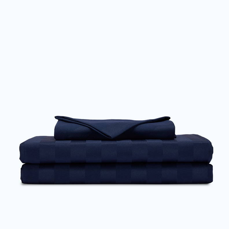 sleep zone bedding website store products collections cooling striped sheet set navy blue