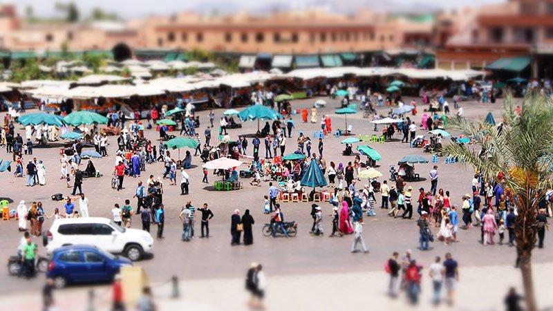 Jemaa el Fna square, Marrakech, Morocco