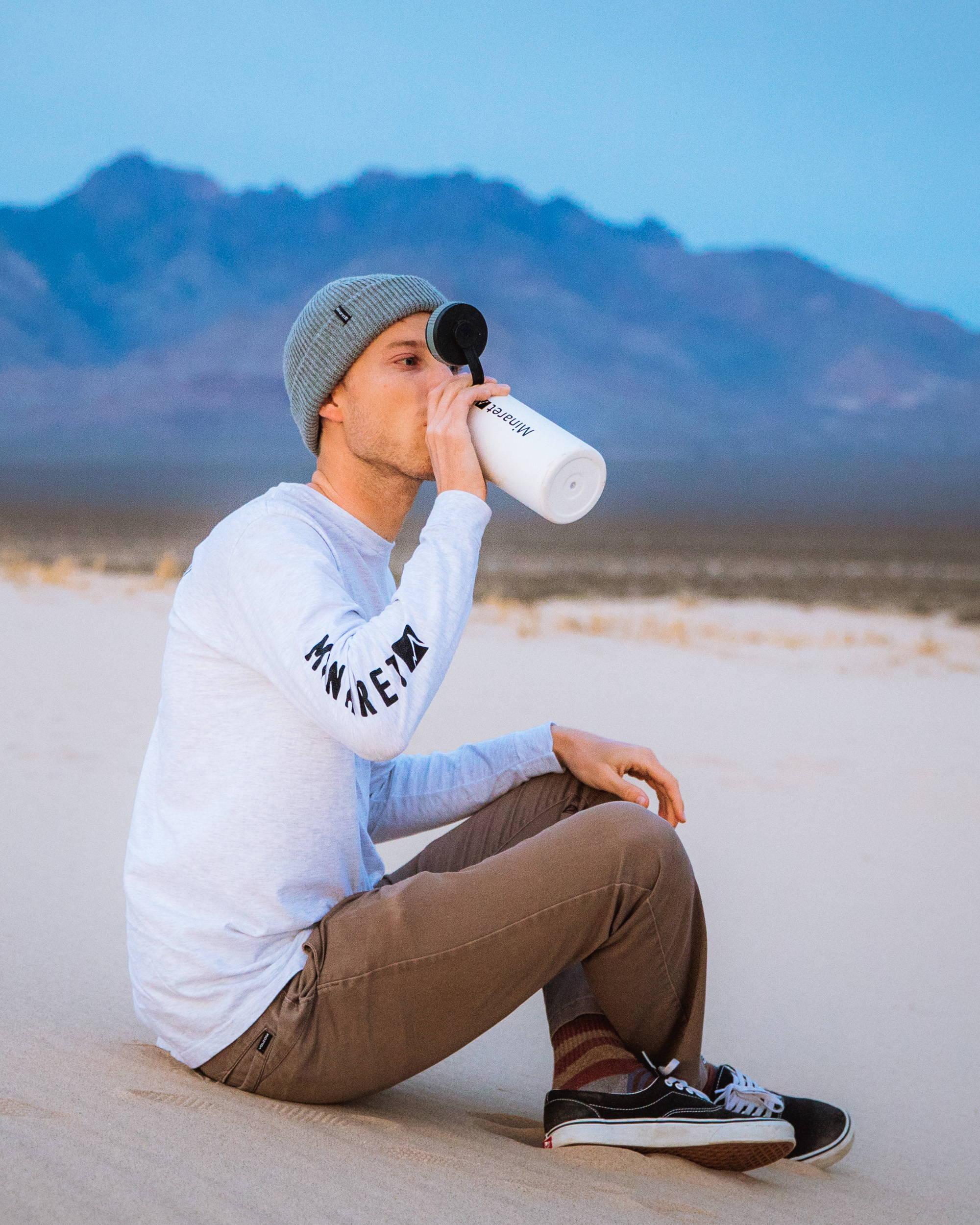 Wide opening water bottle