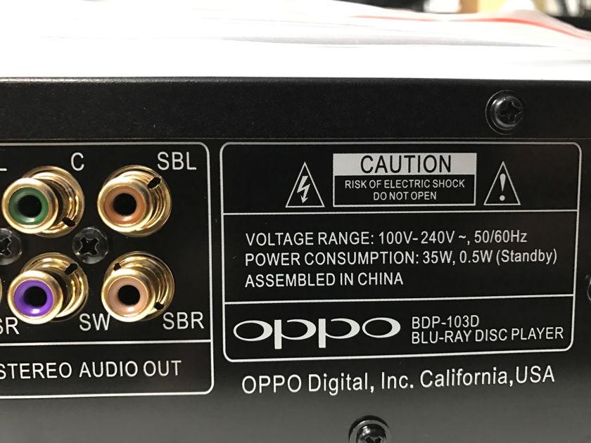 Oppo Digital 103D Like new Oppo 103D Blu-Ray Player