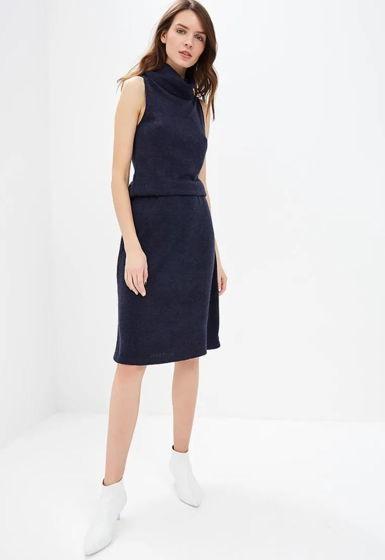 Костюм юбка с водолазкой с американской проймой
