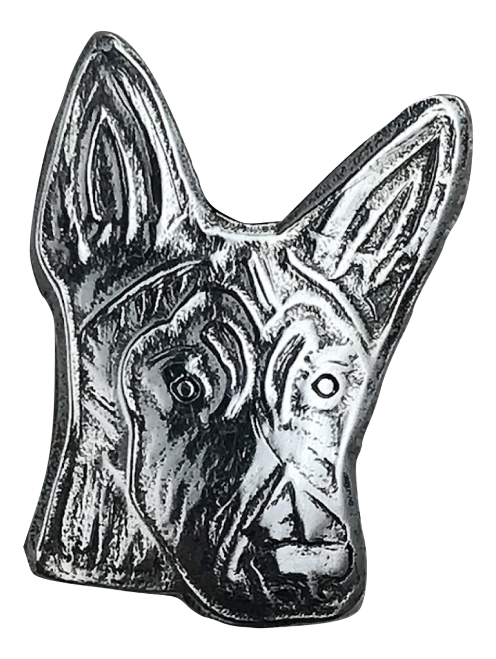 sterling silver custom belgian malinois dog pendant